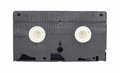 Old vintage vhs video cassette on white background Stock Images