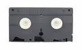Old vintage vhs video cassette on white background Stock Images