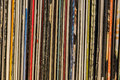 Old vintage vinyl collection with cover Royalty Free Stock Photo