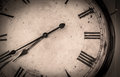 Old vintage wall clock detail Royalty Free Stock Photo