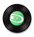 Old vinyl record - clipping path Royalty Free Stock Photo