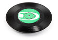 Old vinyl record ellipse - clipping path Royalty Free Stock Photo