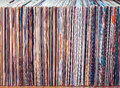 Old vinyl records, collection of albums Royalty Free Stock Photo