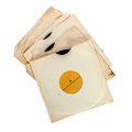 Old vinyl records in paper covers Royalty Free Stock Photo