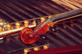 Old violin on a duclimer Royalty Free Stock Photography