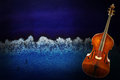 Old Violin On Vintage Background Royalty Free Stock Photo