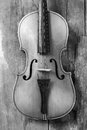 Old violin in a workshop Royalty Free Stock Photo