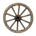 Old waggon wheel Royalty Free Stock Photo