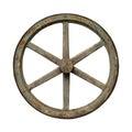 Old waggon wheel Royalty Free Stock Photo