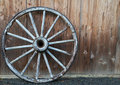 Old wagon wheel Stock Photography