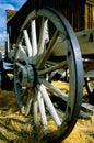 Old wagon wheel Royalty Free Stock Photos