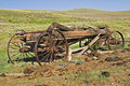 Old Wagons of Wyoming Stock Photo