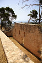 Old wall of Ayios Georgios castle Royalty Free Stock Photography