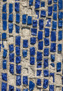 Old wall with blue stone. Royalty Free Stock Photo