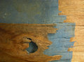 Old wall brown and blue wooden Royalty Free Stock Photos