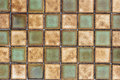 Old wall ceramic tile pattern background. Royalty Free Stock Photo