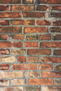 Old wall made from red bricks Royalty Free Stock Photo