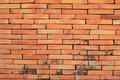 Old wall red color bricks Royalty Free Stock Photo