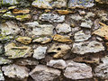 Old wall of rough stones Royalty Free Stock Image