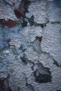 Old wall with scratched paint Royalty Free Stock Photo