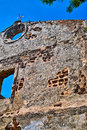 Old wall of st paul church the was build by portuguese at melaka malaysia Stock Images