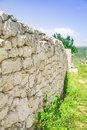 Old wall with stones closeup of a large part of the background Royalty Free Stock Photos