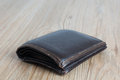 Old wallet on the floor with detail Stock Image