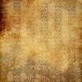 Old wallpaper paper grunge background Royalty Free Stock Image