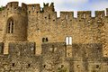 Old walls of the medevial fortress of carcassonne aude france Royalty Free Stock Photo