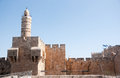Old walls walk in jerusalem historical city israel Royalty Free Stock Photos