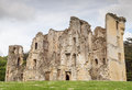 Old wardour castle ruins england the badly damaged remains of in the wiltshire countryside on a cloudy summer s day the was built Stock Photography