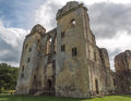 Old wardour castle wiltshire england stunning remains of in the countryside on a dramatic cloudy summer s day the was built in the Stock Photo