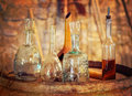 Old ware in a wine cellar Royalty Free Stock Photo