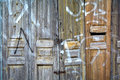 Old warehouse wooden door. Royalty Free Stock Photo