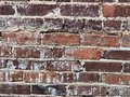Old warn down brick wall with cement failing Royalty Free Stock Photo