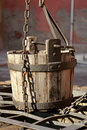 Old water bucket Stock Photo