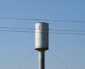 Old water tower accommodates to generate pressure Stock Photo