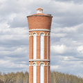 Old water tower built with bricks typical of castile and leon spain Stock Images