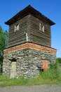 Old water tower in the village of novoromanovo kemerovo region Stock Image