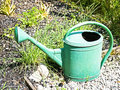 Old watering can Stock Photo