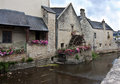Old watermill by river scenic view of building normandy france Stock Image