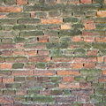 Old weathered and broken brick wall Royalty Free Stock Photo