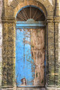 Old and weathered door, Morocco Stock Photography