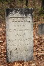 Tall gravestone with the name Sarah set among others in Southside Cemetery, Saratoga Springs, New York, spring, 2021 Royalty Free Stock Photo