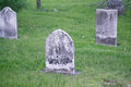 Old Weathered Headstones In Cemetery Royalty Free Stock Photo