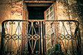 Old weathered rusty balcony abstract photo of Royalty Free Stock Image