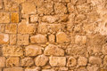 Old and weathered stone wall background jaffa Royalty Free Stock Image