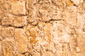 Old and weathered stone wall background jaffa Royalty Free Stock Photo