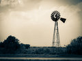 Old weathered windmill image of an out west Stock Photography