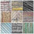 Old weathered wood collage Royalty Free Stock Photo